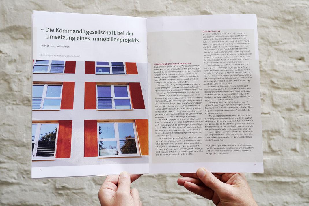 Innenseite Broschüre Stiftung Trias