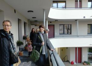 Die Wohnungen in der Malerstraße sind durch Laubengänge erschlossen