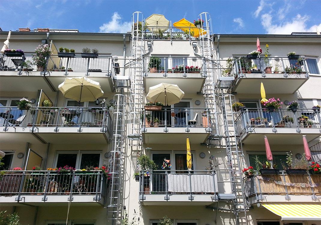 Fassade des Wohnprojekts Wahlverwandschaften